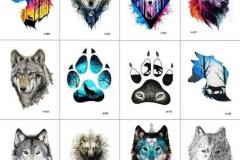 Татуировка : Цветные, Волк, Животные