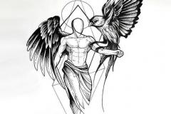 Татуировка : Крылья, Люди, Птицы