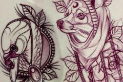 Татуировка : Животные, Собака