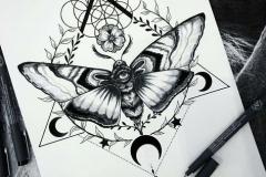 Наколка : Бабочка
