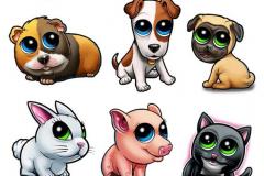 Наколка : Животные, Цветные, Собака