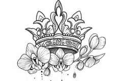 Татуировка : Цветы, Корона