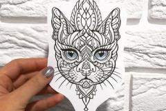 Татуировка : Животные, Кошка
