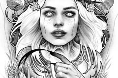 Татуировка : Люди, Демон