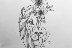 Татушка : Животные, Цветы, Лев