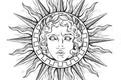 Наколка : Солнце - эскиз
