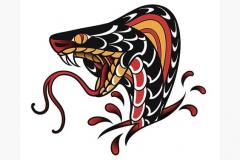 Наколка : Цветные, Змея
