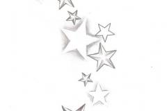 Татуировка : Звезды - эскиз
