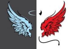Наколка : Цветные, Крылья
