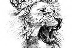 Татуировка : Животные, Лев