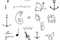 Татуировка : Бабочка, Узор