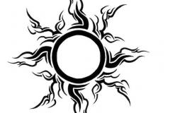 Татуировка : Солнце