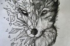 Тату : Волк, Животные