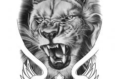 Тату : Животные, Лев