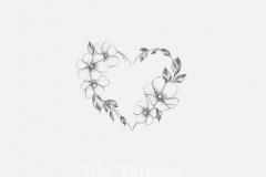 Тату : Цветы, Сердце