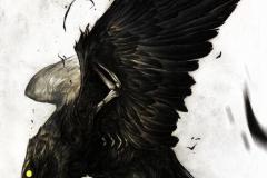 Тату : Птицы, Ворон