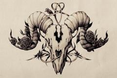Татуировка : Череп - эскиз