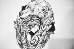 Татуировка : Животные, Люди, Медведь