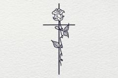 Татуировка : Цветы, Роза, Надпись