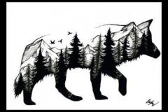 Татушка : Волк, Животные
