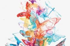 Татушка : Бабочка, Цветные