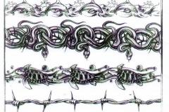 Наколка : Узор, Змея