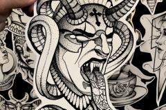 Тату : Демон, Змея