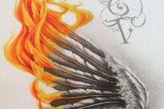 Татуировка : Цветные, Крылья