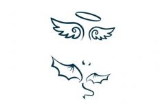 Татуировка : Узор, Крылья