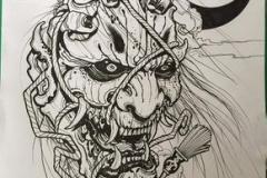 Татуировка : Демон, Череп