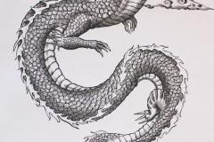 Тату : Змея, Дракон - эскиз