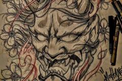 Татуировка : Демон, Цветные, Узор
