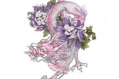 Наколка : Цветные, Змея, Цветы