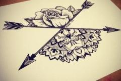 Татуировка : Узор, Роза