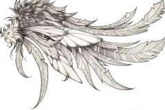 Татушка : Перо, Крылья