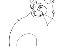 Татуировка : Животные, Узор, Кошка