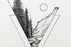Татуировка : Луна, Деревья