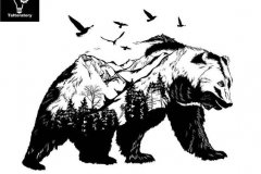 Наколка : Животные, Медведь