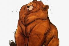 Наколка : Животные, Цветные, Медведь