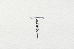 Татуировка : Надпись, Узор, Крест