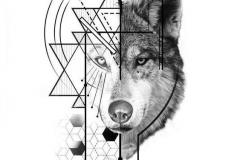Татушка : Узор, Волк, Животные