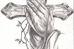 Тату : Крест, Руки