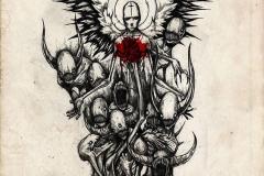 Татуировка : Демон, Крылья, Цветные